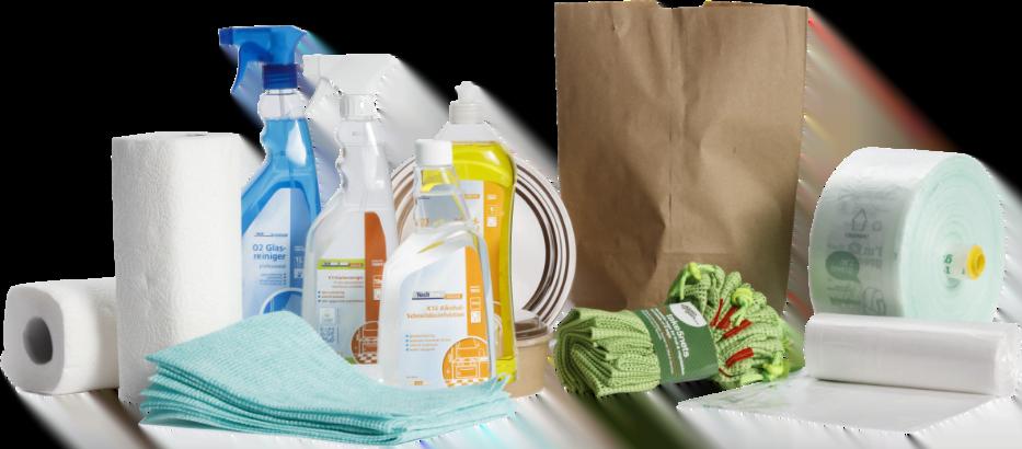Techline Reinigungsmittel, nachhaltige Verpackungen für den Lebensmitteleinzelhandel, Putztücher