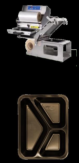 Siegelmaschine und Siegelschale