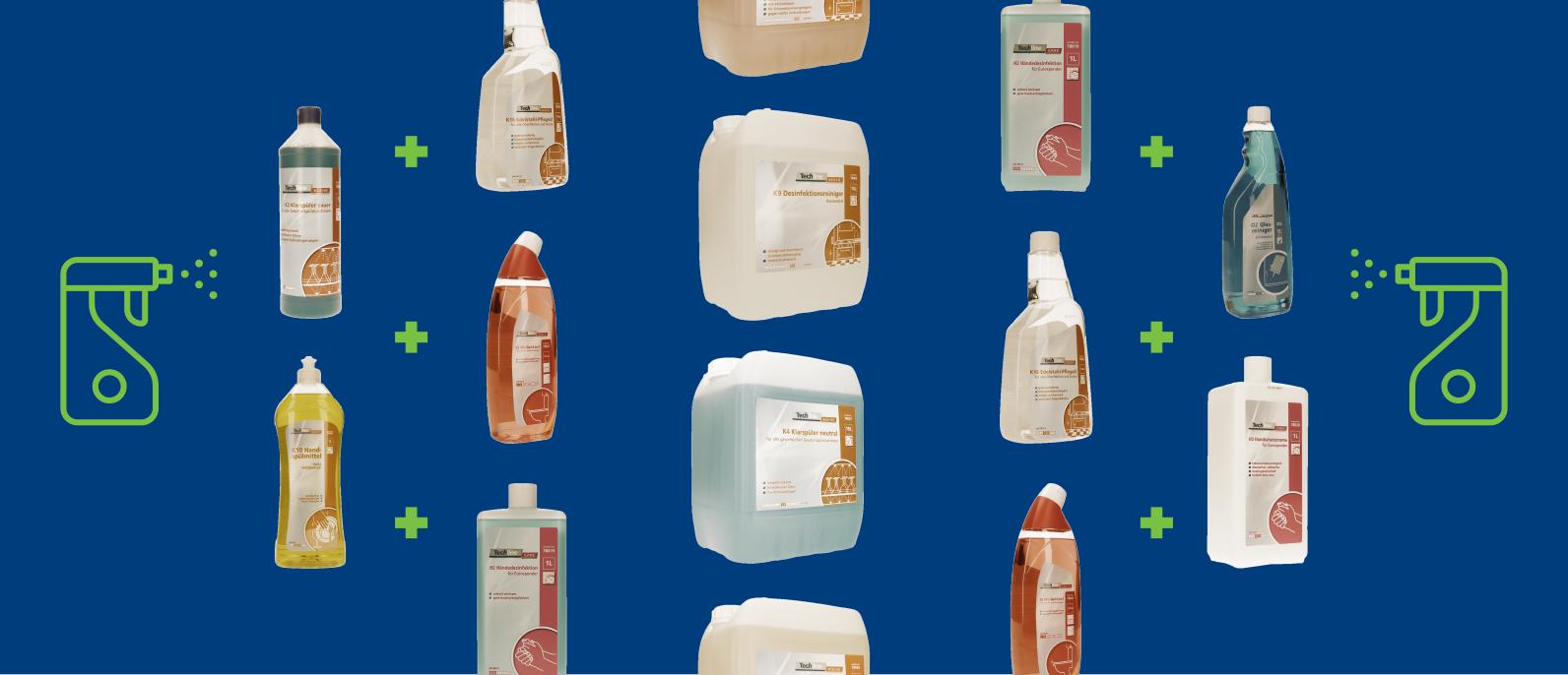 Techline und Techline ECO Reinigungsmittel und Desinfektionsmittel