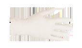 Weißer Nitril-Handschuh